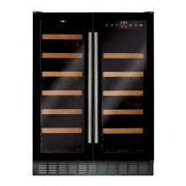 CDA Freestanding 600mm Double Door Black Wine Cooler FWC623BL