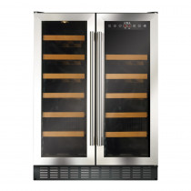 CDA Freestanding 600mm Double Door Stainless Steel Wine Cooler FWC623SS