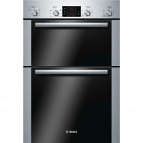 Bosch Serie 6 HBM43B250B Brushed Steel Built-in Double Oven