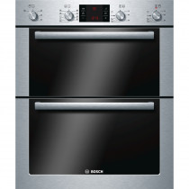 Bosch Serie 6 HBN53R550B Brushed Steel Built-under Double Oven