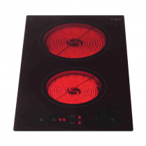 CDA Domino Two Zone Black Ceramic Hob HC3620FR