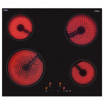 CDA Touch Control 60cm Four Zone Black Ceramic Hob HC6620FR