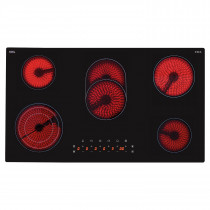CDA Touch Control 90cm Five Zone Ceramic Hob HC9621FR