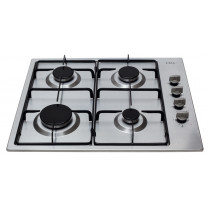 CDA Four Burner Stainless Steel Gas Hob HG6150SS