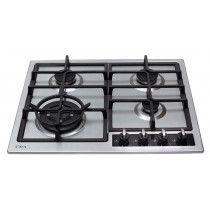 CDA Four Burner Stainless Steel Gas Hob HG6350SS