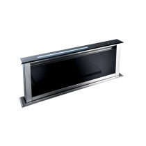 Best Lift 90 Downdraft kitchen extractor Black Glass