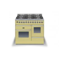 Ilve Roma 100 XG Dual Fuel Cream Range Cooker (4 burner and Coup-de-feu)