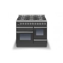 Ilve Roma 100 XG Dual Fuel Graphite Range Cooker (4 burner and Coup-de-feu)
