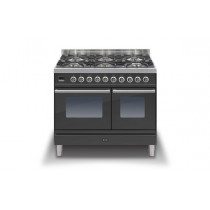 Ilve Roma 100 Twin Dual Fuel Graphite Range Cooker (4 burner and fry top)