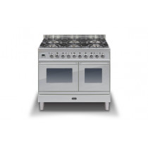 Ilve Roma 100 Twin Dual Fuel Stainless Steel Range Cooker (4 burner and fry top)
