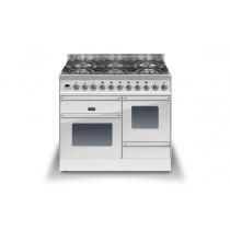 Ilve Roma 100 XG Dual Fuel White Range Cooker (4 burner and Coup-de-feu)