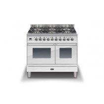 Ilve Roma 100 Twin Dual Fuel White Range Cooker (4 burner and fry top)
