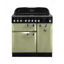 Rangemaster Elan 90 Ceramic Olive Green Range Cooker  ELAS90ECOG/ 100970