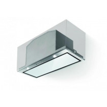 Faber Inca Lux White Glass 70cm Stainless Steel Integrated Hood