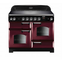Rangemaster Classic 110 Induction Cranberry/Chrome Trim Range Cooker