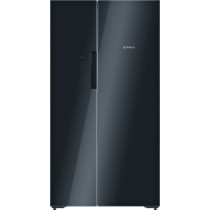 Bosch Serie 8 American-Style Black Fridge Freezer KAN92LB35G