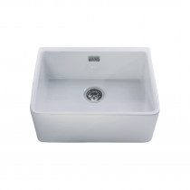 CDA Ceramic Sink Single Bowl Belfast White - KC11WH