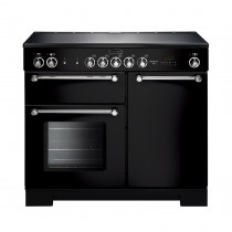 Rangemaster Kitchener 100 Ceramic Black Range Cooker KCH100ECBL/C 112820