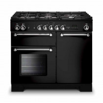 Rangemaster Kitchener 100 Gas Black Range Cooker KCH100NGFBL/C 111940