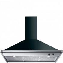 Smeg 100cm Classica Opera Gloss Black Chimney Hood KD100NE