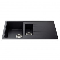 CDA Black Composite 1 1/2 Bowl Sink