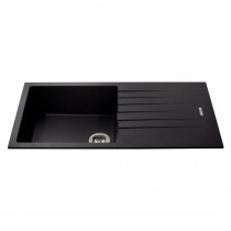 CDA Metallic Finish Reversible Composite Single Bowl Sink KG73BL