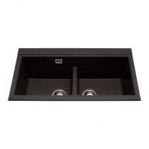 CDA Metallic Finish Composite Double Bowl Sink KG80BL