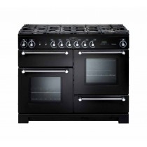 Rangemaster Kitchener 110 Natural Gas Black Range Cooker KCH110NGFBL/C 116690