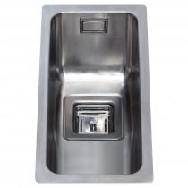 CDA Undermount Designer Square Cut Single Half Bowl Sink Stainless Steel - KSC21SS