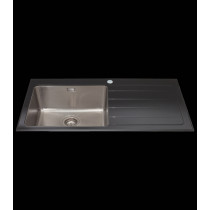 CDA Glass 1 Bowl Sink KVL01