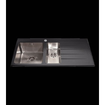 CDA Glass 1 1/2 Bowl Sink KVL02