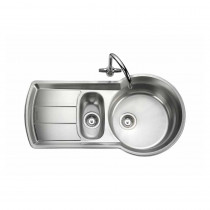 Rangemaster Keyhole KY10002/ 1.5 Bowl Stainless Steel Sink