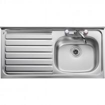 Leisure Contract 1 Bowl Roll Front Sink - Left Handed Drainer