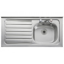 Leisure Contract 1 Bowl Square Front Sink - Left Handed