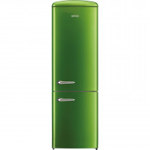 gorenje ORK193GR 188.7cm Retro Freestanding Lime Green Fridge Freezer