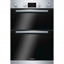 Bosch Serie 6 HBM43B150B Brushed Steel Built-in Multi-function Double Oven
