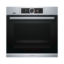 Bosch HRG6769S6B Serie 8 Pyrolytic Single Oven with Added Steam