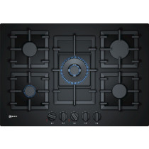 Neff N70 75cm Black 'Gas on Glass' Gas Hob T27CA59S0