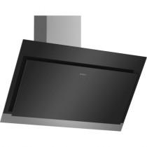 Bosch Serie 4 DWK97HM60B 90 Angled Glass Black Chimney Hood