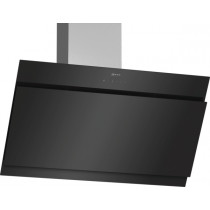 Neff N50 90cm Angled Black Glass Chimney Hood D95IHM1S0B