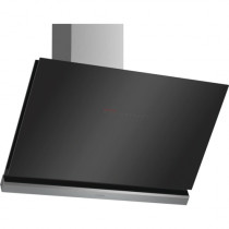 Bosch Serie 8 DWK98PR60B 90 Angled Glass Black Chimney Hood