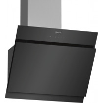 Neff N50 60cm Angled Black Glass Chimney Hood D65IHM1S0B