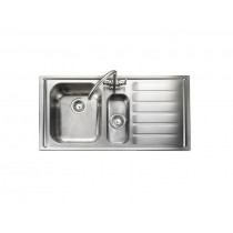 Rangemaster Manhattan MN10102R/ 1.5 Bowl Stainless Steel Sink Right