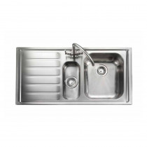 Rangemaster Manhattan MN10102L/ 1.5 Bowl Stainless Steel Sink Left