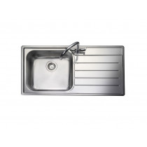 Rangemaster Oakland OL9851R/ Single Bowl Stainless Steel Sink Right