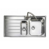 Rangemaster Oakland OL9852L/ 1.5 Bowl Stainless Steel Sink Left