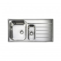 Rangemaster Oakland OL9852R/ 1.5 Bowl Stainless Steel Sink Right