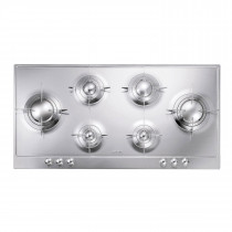 Smeg Piano 100 Stainless Steel Gas Hob