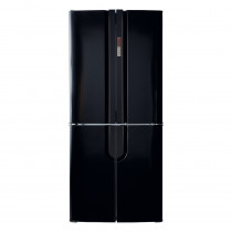 CDA Freestanding Four Door Black Fridge Freezer PC88BL