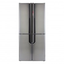 CDA Freestanding Four Door Silver Fridge Freezer PC88SS